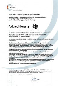 DAkkS - Akkreditierungsurkunde